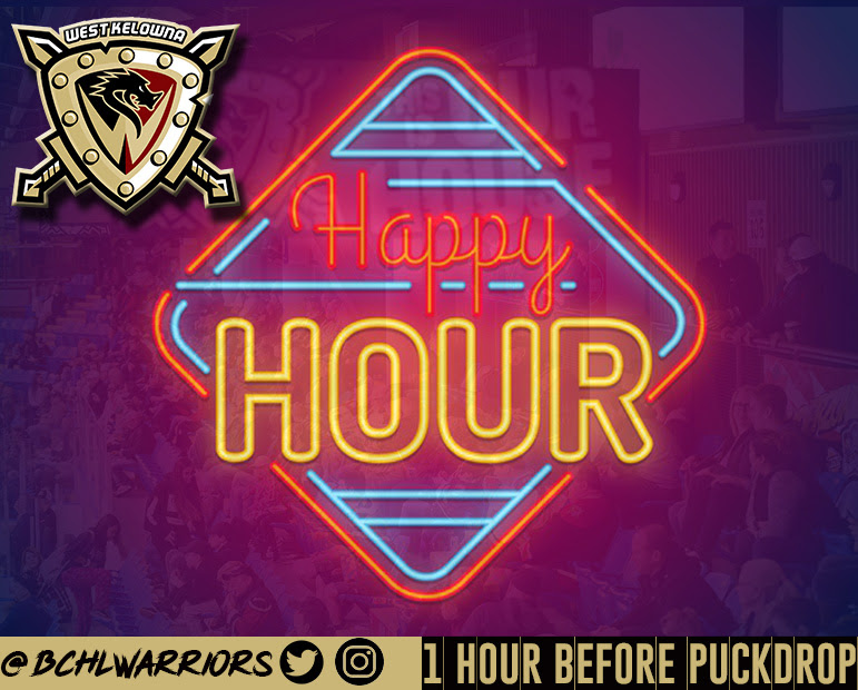 The West Kelowna Warriors are introducing a pre-game happy hour
