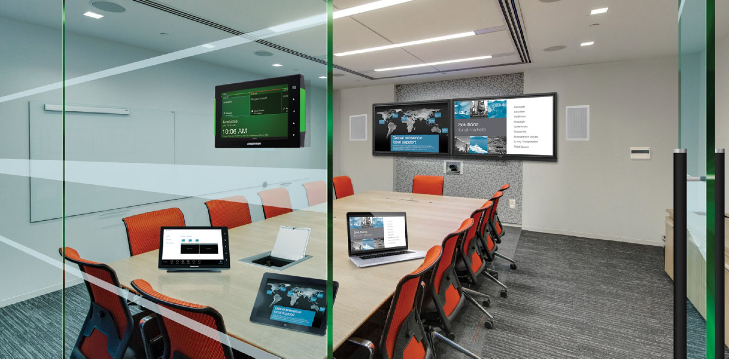 The modern office showcases cool tech in great new ways for Modern tech office design