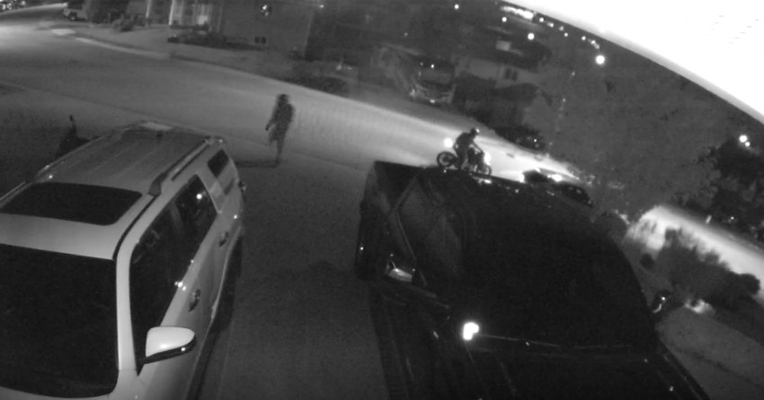 VIDEO: Footage shows drive-by motorbike theft in Black Mountain