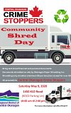 Crime Stoppers Community Shred Day