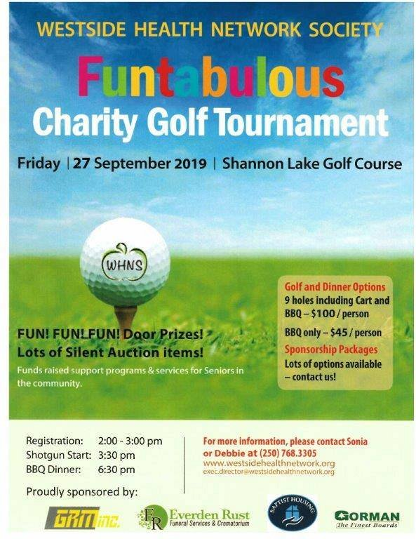 Charity Golf & Dinner Tournament Hosted by Westside Health