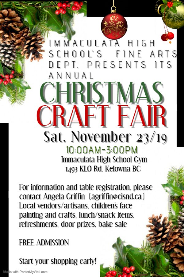 Immaculata Christmas Craft Fair