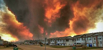 Fort McMurray wildfire nearly doubles in size