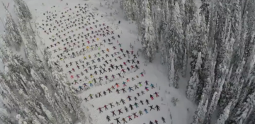 Big White Joins Thousands Attempting to Break Snow Angel Record