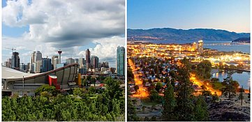 A tale of two cities: Calgarians keep more of their money, but Kelowna residents are happier