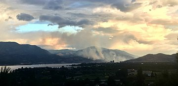 Several wildfires burning in the Okanagan