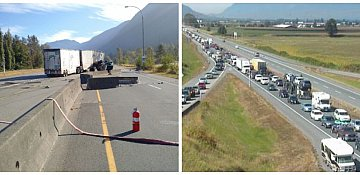 Accident closes Highway 1 near Hope