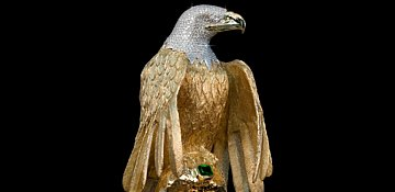 Diamond encrusted gold eagle worth millions stolen from B.C. home