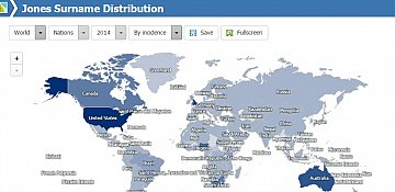 Online map shows where your last name is found worldwide