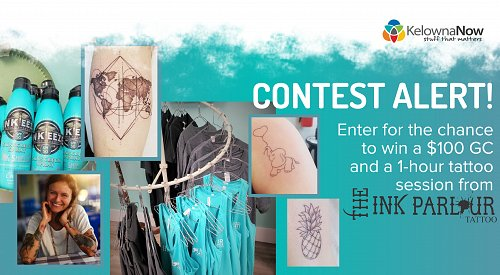 CONTEST CLOSED! Enter for the chance to win a $100 GC and a 1-hour tattoo session from The Ink Parlour!