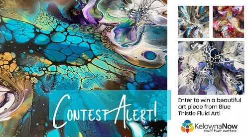 CONTEST CLOSED! Enter to win a beautiful art piece from Blue Thistle Fluid Art!