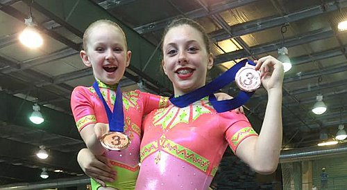 Okanagan acrobatic gymnasts close out season with large medal haul