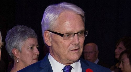 PR firm suspends Gordon Campbell's contract after former premier accused of groping woman