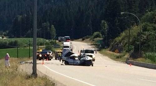 Part of Highway 97 Closed for Accident Between Enderby and Grindrod