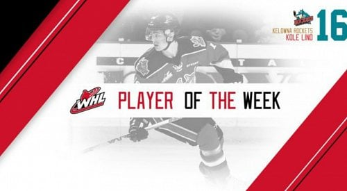 Kole Lind receives Player of the Week honours