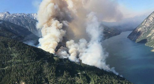 UPDATE: Xusum Creek wildfire now 500 hectares, but seeing some containment
