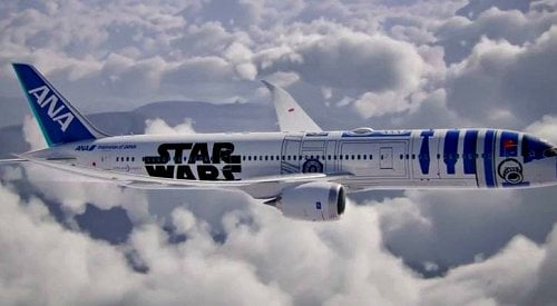 The Force is Strong with New R2-D2 Themed Jetliner