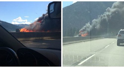 Coquihalla Closed for Vehicle Fire
