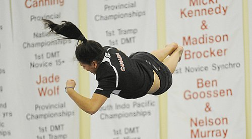 Golden moments galore for OGC trampolinists in Calgary