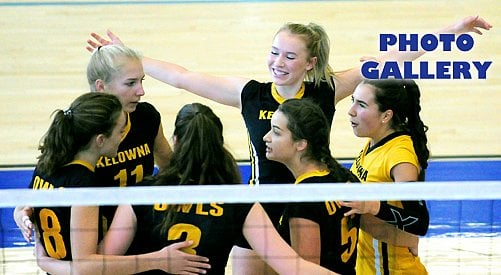 Owls rely on depth for volleyball silver at UBCO tourney