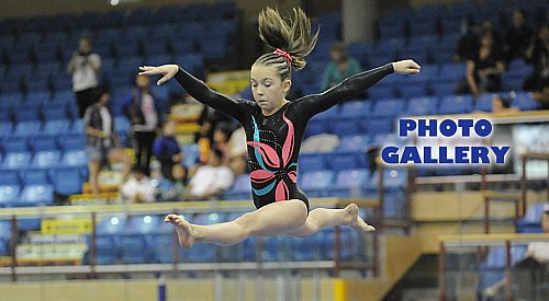 Host gymnasts score high at record-setting Ogopogo Invitational