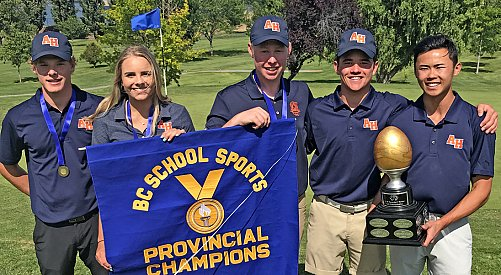 Cole Wilson leads Aberdeen Hall to provincial golf championship