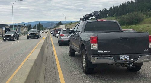 UPDATE: Hwy 97 opens eastbound after brief closure