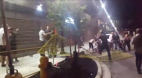 VIDEO: Violent brawl breaks out outside Vernon night club