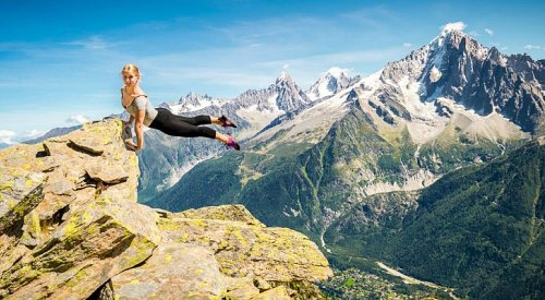 Ballerina Dancing Across Mountain Top Makes for Breathtaking Photos