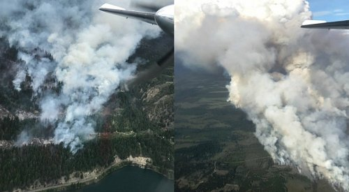 BC Wildfire Service urging caution as crews battle 4 wildfires in drier than normal conditions