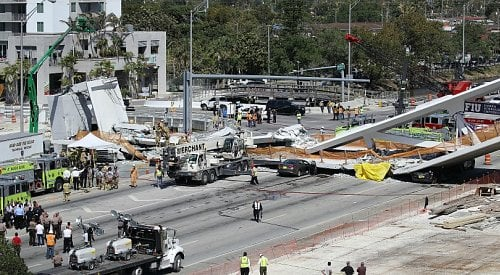 University bridge collapses leaving several dead in Florida