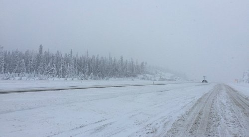 Snow Continues to Fall on the Coquihalla