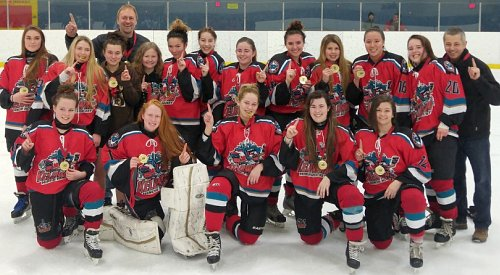 Kelowna Midget Female Rockets win gold at Alley's Tournament of Hearts