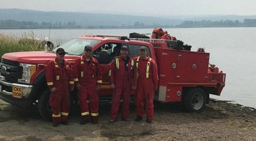 Kelowna firefighters join the frontlines at the Shovel Lake wildfire