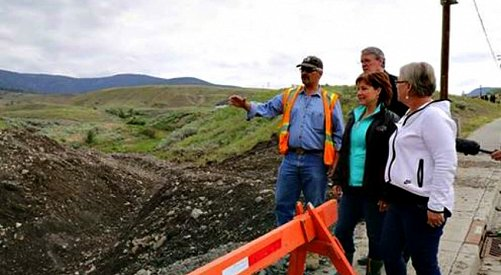 Premier Clark Views Devastation in Cache Creek