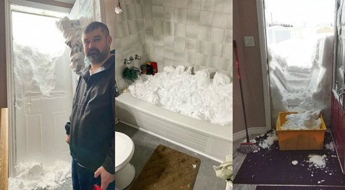 PHOTOS: Newfoundlanders start digging themselves out of their homes after record-setting blizzard