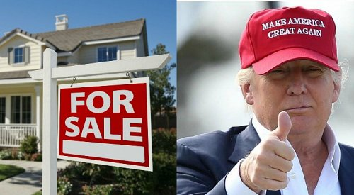 U.S. searching Canadian real estate on Inauguration Day