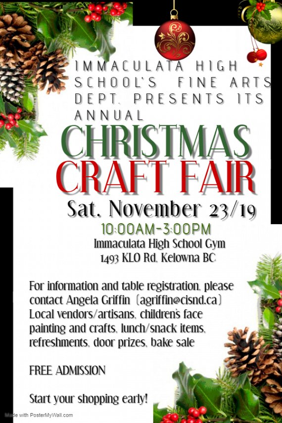 Christmas Crafts 2019.Immaculata Christmas Craft Fair