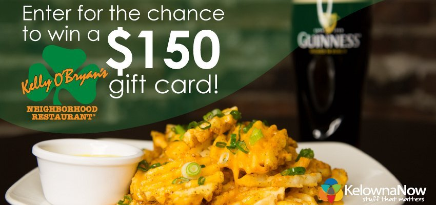 CONTEST ALERT! Enter for the chance to win a $150 gift card to Kelly O'Bryan's!