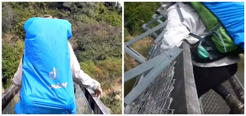 Four Hikers Were on a Suspension Bridge When it Collapsed Beneath Them